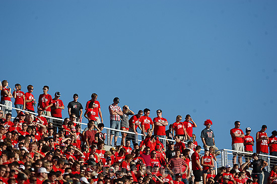 Trent Nelson  |  The Salt Lake Tribune.. Utah vs. Montana State in Salt Lake City, Utah, Thursday, September 1, 2011. fans