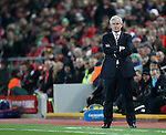 Stoke's Mark Hughes looks on dejected during the Premier League match at Anfield Stadium, Liverpool. Picture date December 27th, 2016 Pic David Klein/Sportimage