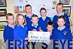 Pupils at Raheen National School who raised over 1,500 for charity organisation, Bothar. .Front L-R Kalin Patterson, Donal Murphy, Matthew Reen and Amy McCarthy. .Back L-R Kevin Bowler, Tom O'Rourke, Shannon Lucey and TJ Leader.