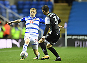 30th September 2017, Madejski Stadium, Reading, England; EFL Championship football, Reading versus Norwich City; James Husband of Norwich City blocks the pass from Jon Daoi Boovarsson of Reading