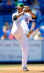 17 March 2007: New York Mets pitcher Pedro Feliciano in action against the Washington Nationals on St. Patrick's Day at Tradition Field in Port St. Lucie, Florida...Mandatory Photo Credit: Ed Wolfstein Photo
