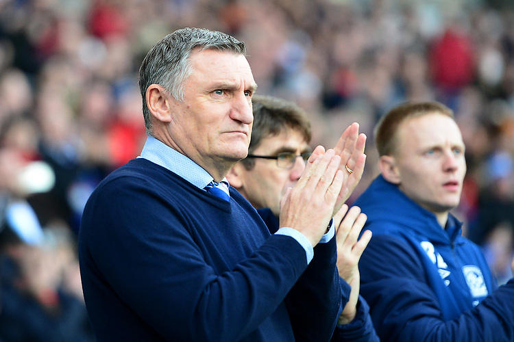 Blackburn Rovers manager Tony Mowbray  applauds<br /> <br /> Photographer Richard Martin-Roberts/CameraSport<br /> <br /> The EFL Sky Bet Championship - Blackburn Rovers v West Bromwich Albion - Tuesday 1st January 2019 - Ewood Park - Blackburn<br /> <br /> World Copyright © 2019 CameraSport. All rights reserved. 43 Linden Ave. Countesthorpe. Leicester. England. LE8 5PG - Tel: +44 (0) 116 277 4147 - admin@camerasport.com - www.camerasport.com