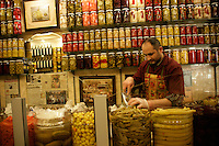 Shop selling pickles of every sort, Beyoglu, Istanbul, Turkey