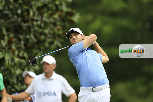 Kyle Stanley (USA) tees off the 15th tee during Friday's Round 2 of the 2017 PGA Championship held at Quail Hollow Golf Club, Charlotte, North Carolina, USA. 11th August 2017.<br /> Picture: Eoin Clarke | Golffile<br /> <br /> <br /> All photos usage must carry mandatory copyright credit (&copy; Golffile | Eoin Clarke)