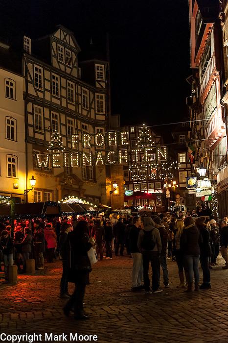 German Christmas Market Street Scene