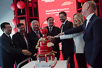 Celebration of the new Shanghai-Budapest plane connection provided by China Eastern and Shanghai Airlines at Ferenc Liszt Budapest Airport in Budapest, Hungary on {monthnameapap} 7, 2019. ATTILA VOLGYI