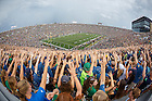Aug. 30, 3014; Student section in Notre Dame Stadium during the season opening football game against Rice.. Photo by Peter Ringenberg/University of Notre Dame