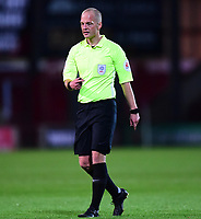 Referee Martin Coy<br /> <br /> Photographer Andrew Vaughan/CameraSport<br /> <br /> The EFL Checkatrade Trophy Northern Group H - Scunthorpe United v Lincoln City - Tuesday 9th October 2018 - Glanford Park - Scunthorpe<br />  <br /> World Copyright &copy; 2018 CameraSport. All rights reserved. 43 Linden Ave. Countesthorpe. Leicester. England. LE8 5PG - Tel: +44 (0) 116 277 4147 - admin@camerasport.com - www.camerasport.com