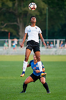 Kansas City, MO - Sunday September 3, 2017: Maya Hayes, Desiree Scott during a regular season National Women's Soccer League (NWSL) match between FC Kansas City and Sky Blue FC at Children's Mercy Victory Field.