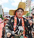"August 3, 2013, Nagoya, Aichi, Japan : Mayor of Nagoya Takashi Kawamura attends the red carpet ceremony for the ""World cosplay summit 2013"" in Nagoya, Aichi prefecture, Japan, on August 3, 2013. (Photo by AFLO)"