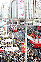 Japan Delegation (JPN), OCTOBER 7, 2016 : Japanese medalists of Rio 2016 Olympic and Paralympic Games wave to spectators during a parade from Ginza to Nihonbashi, Tokyo, Japan. (Photo by Shingo Tosha/AFLO)