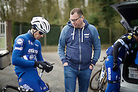 Zdenek Stybar (CZE/Etixx-QuickStep) & DS Wilfried Peeters during the Ronde van Vlaanderen 2016 recon