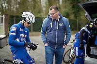 Zdenek Stybar (CZE/Etixx-QuickStep) & DS Wilfried Peeters during the Ronde van Vlaanderen 2016 recon