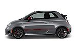 Car Driver side profile view of a 2017 Fiat 500c Abarth-Cabrio 2 Door Convertible Side View