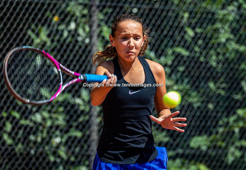Hilversum, Netherlands, Juli 29, 2019, Tulip Tennis center, National Junior Tennis Championships 12 and 14 years, NJK, Megan Caffin (NED)<br /> Photo: Tennisimages/Henk Koster