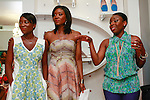 (Left to right) Nikki Ogunnaike Glamor.com Style Editor; Lola Ogunnaike Arise 360 contributor; and Nana Eyeson-Akiwowo AHN Founder and Director, hosting the African Health Now - Fashion Fete event, at the Tracy Reese store on 641 Hudson Street, June 20, 2013.