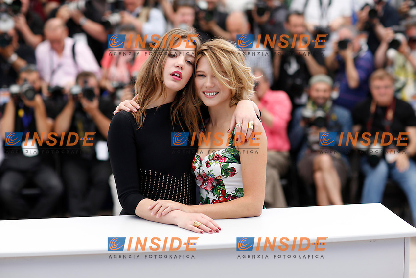 Adele Exarchopoulos -  Lea Seydoux .Cannes 23/5/2013 .66mo Festival del Cinema di Cannes 2013 .Foto Panoramic / Insidefoto .ITALY ONLY