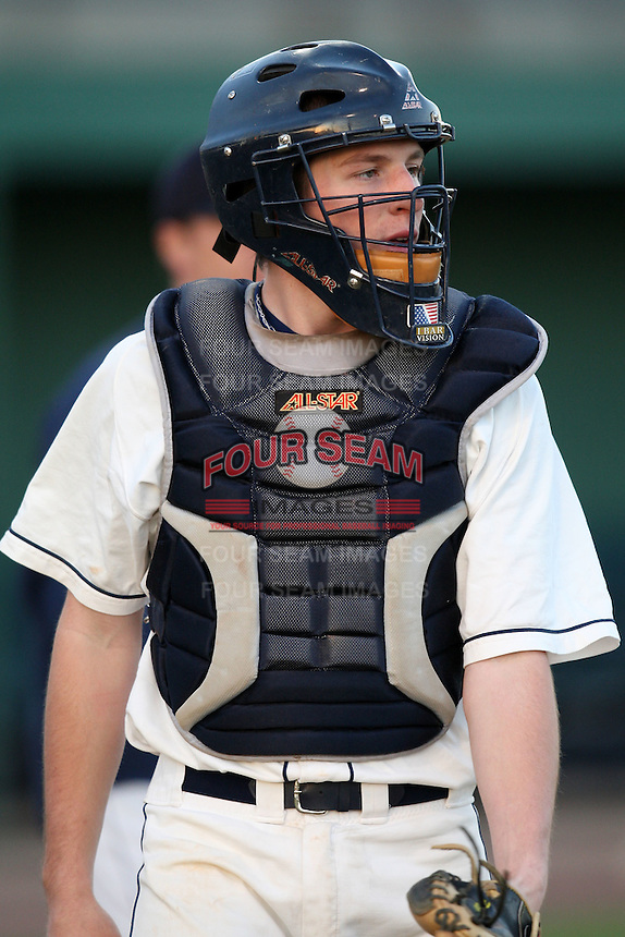 March 13, 2010:  Catcher Chris Piwinski of the Yale Bulldogs vs. the Akron Zips in a game at Henley Field in Lakeland, FL.  Photo By Mike Janes/Four Seam Images