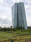 Germany-Frankfurt/Main - June 16, 2018 -- ECB - European Central Bank / Eurosystem, premises on river Main / East End (Ostend), with i.a. new main building, designed by 'Coop Himmelb(l)au', and former wholesale market hall / Grossmarkthalle -- Photo © HorstWagner.eu