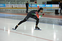 SPEEDSKATING: SALT LAKE CITY: 08-12-2017, Utah Olympic Oval, ISU World Cup, 500m Men B-Division, Konrád Nagy (HUN), ©photo Martin de Jong