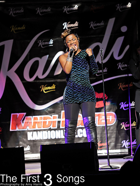 KANDI BURRUSS, from The Real Housewives of Atlanta, performs at the State Theatre in Cleveland, Ohio on December 29, 2010.