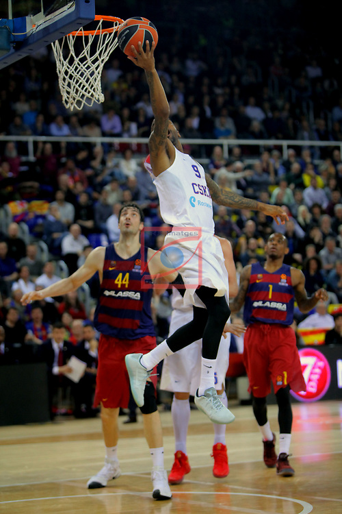 Turkish Airlines Euroleague 2016/2017.<br /> Regular Season - Round 24.<br /> FC Barcelona Lassa vs CSKA Moscow: 61-85.<br /> Aaron Jackson.