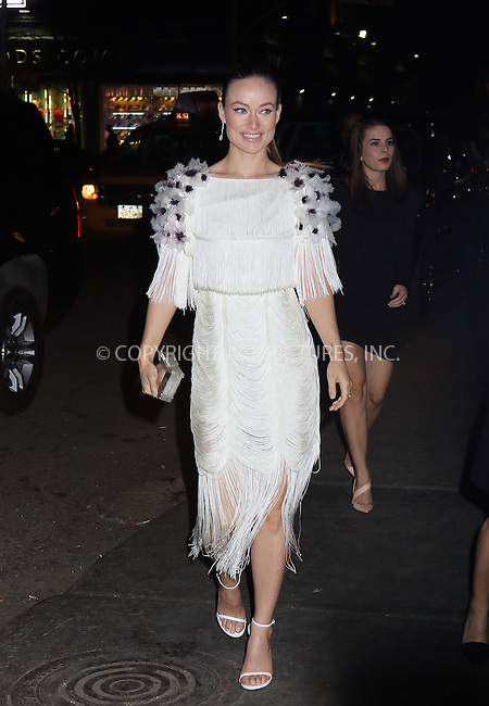 WWW.ACEPIXS.COM<br /> <br /> April 15 2015, New York City<br /> <br /> Actress Olivia Wilde arriving at a Tiffany event at ABC Kitchen on April 15 2015 in New York City<br /> <br /> By Line: Philip Vaughan/ACE Pictures<br /> <br /> ACE Pictures, Inc.<br /> tel: 646 769 0430<br /> Email: info@acepixs.com<br /> www.acepixs.com