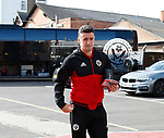 Enda Stevens of Sheffield Utd arrives during the Championship match at the City Ground Stadium, Nottingham. Picture date 30th September 2017. Picture credit should read: Simon Bellis/Sportimage