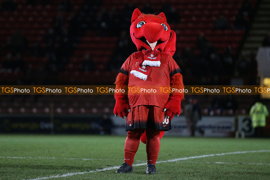 Orient mascot Theo the Wyvern during Leyton Orient vs Morecambe, Sky Bet EFL League 2 Football at the Matchroom Stadium on 7th February 2017