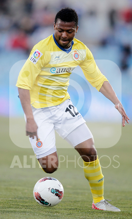 Espanyol's Kalu Uche during La Liga Match. February 18, 2012. (ALTERPHOTOS/Alvaro Hernandez)