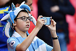 A young Manchester City fan before the start of the premier league match at the Wembley Stadium, London. Picture date 14th April 2018. Picture credit should read: Robin Parker/Sportimage