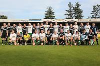 Gross-Gerau 29.06.2016: FFH-Team spielt gegen eine Auswahl des VfR Gro&szlig;-Gerau, VfR-Sportplatz<br /> Mannschaftsfoto der beiden Mannschaften