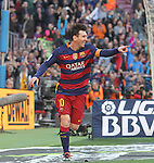 09.01.2016 Camp Nou, Barcelona, Spain. La Liga day 19 march between FC Barcelona and Granada. Leo Messi celebrate a goal
