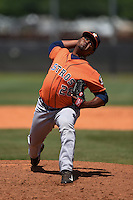 Houston Astros pitcher Francis Martes (28) during a minor league spring training game against the Atlanta Braves on March 29, 2015 at the Osceola County Stadium Complex in Kissimmee, Florida.  (Mike Janes/Four Seam Images)