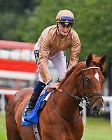 Robin Weathers ridden by Daniel Muscutt goes down to the start  during Ladies Evening Racing at Salisbury Racecourse on 15th July 2017