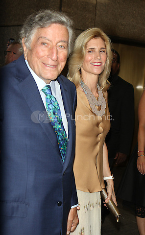 NEW YORK, NY-August 03: Tony Bennett, Susan Crow at Tony Bennett Birthday party in honor of 90 years of Musical Legacy  at the Rainbow Room in New York. NY August 03, 2016. Credit:RW/MediaPunch