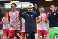 Delight for Stevenage manager Mark Sampson during Stevenage vs Grimsby Town, Sky Bet EFL League 2 Football at the Lamex Stadium on 12th October 2019