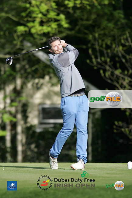 Robbie Greenfield during Wednesday's Pro-Am ahead of the 2016 Dubai Duty Free Irish Open Hosted by The Rory Foundation which is played at the K Club Golf Resort, Straffan, Co. Kildare, Ireland. 18/05/2016. Picture Golffile | TJ Caffrey.<br /> <br /> All photo usage must display a mandatory copyright credit as: &copy; Golffile | TJ Caffrey.