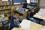 Oakland CA 2nd grade students taking standardized Oakland School District math test