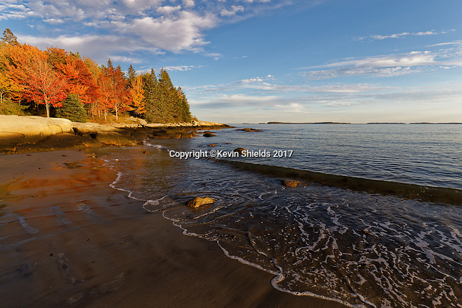 Birch Point Beach State Park, Owls Head, Maine, USA