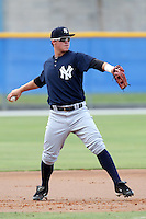 GCL Yankees Tyler Austin #38 during a game against the GCL Blue Jays at the Englebert Complex on June 23, 2011 in Dunedin, Florida.  The Blue Jays defeated the Yankees 3-2 in a rain shortened 8 inning game.  (Mike Janes/Four Seam Images)