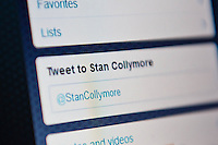 Wednesday 22 January 2014<br /> Pictured:tnn Collymore's twitter account<br /> Re: Former footballer Stan Collymore has accused Twitter of not doing enough to combat abusive messages after he was targeted by internet trolls. The broadcaster has retweeted some of the offensive messages he has received since he suggested Liverpool striker Luis Suarez dived to earn a penalty in Saturday's match against Aston Villa.