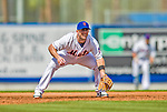23 February 2013: New York Mets' third baseman David Wright in action during a Spring Training Game against the Washington Nationals at Tradition Field in Port St. Lucie, Florida. The Mets defeated the Nationals 5-3 in their Grapefruit League Opening Day game. Mandatory Credit: Ed Wolfstein Photo *** RAW (NEF) Image File Available ***