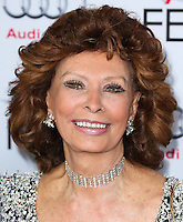 HOLLYWOOD, LOS ANGELES, CA, USA - NOVEMBER 12: Sophia Loren arrives at the AFI FEST 2014 - Special Tribute To Sophia Loren held at the Dolby Theatre on November 12, 2014 in Hollywood, Los Angeles, California, United States. (Photo by Xavier Collin/Celebrity Monitor)