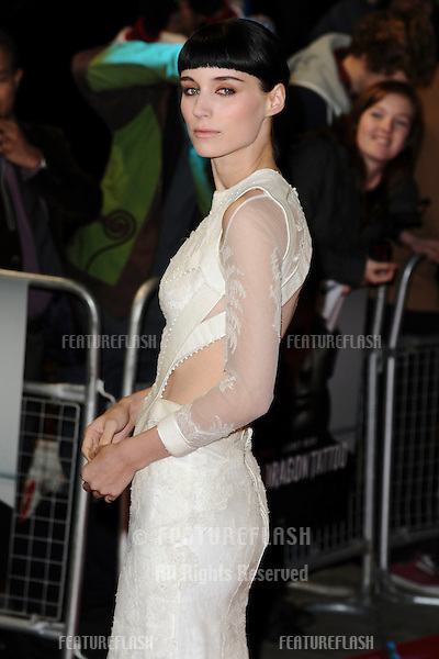 "Rooney Mara arriving for the premiere of ""The Girl with The Dragon Tattoo"" at the Odeon Leicester Square, London. 13/12/2011. Picture by: Steve Vas / Featureflash"