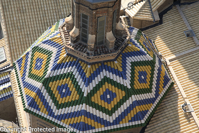 Roof of Basilica of Our Lady of Pilar Church; Zaragoza; Saragossa; Aragon; Spain