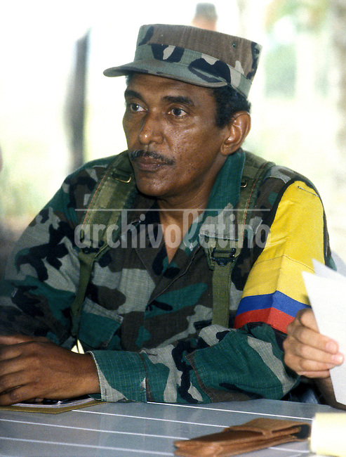 Undated file picture of FARC  lefstist Colombian guerrilla leader Joaquin Gonzalez, who was appointed number 2 of the organization after the killing of Raul Reyes by Colombian Army in the jungle North of Ecuador.