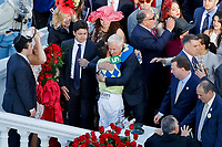 LOUISVILLE, KY - MAY 06: Always Dreaming trainer Todd Pletcher and jockey John Velazquez hug after winning the Kentucky Derby on Kentucky Derby Day at Churchill Downs on May 6, 2017 in Louisville, Kentucky. (Photo by Jon Durr/Eclipse Sportswire/Getty Images)