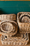 Wicker basket stack