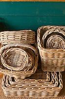 Wicker basket stack
